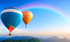 Colorful hot-air balloons