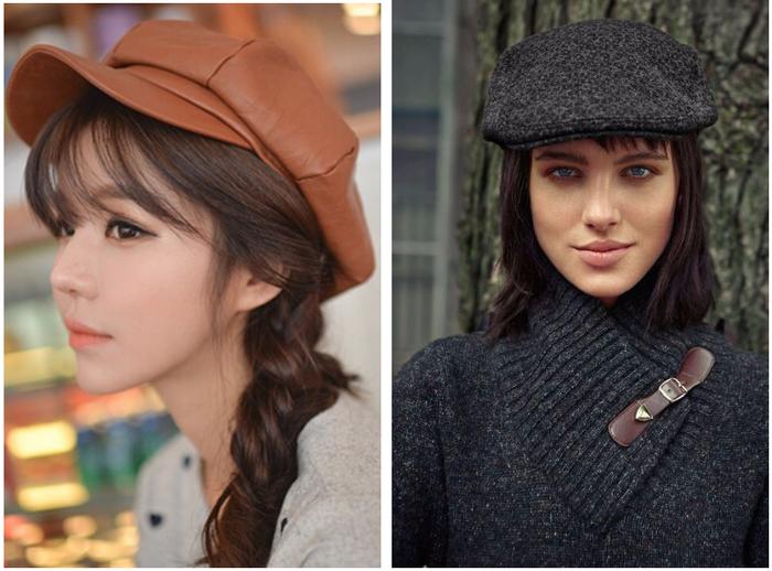 девушки в кепках